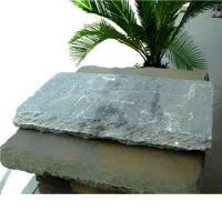 Buy cheap ocean green slate natural stone wall caps product