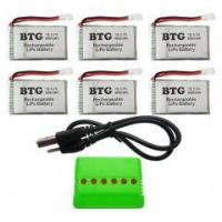 Buy cheap BTG 6PCS 3.7V 600mAh Lipo Battery with product