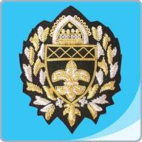 China Embroidered Badge Skout Bullion Wire Badge on sale