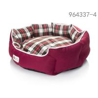 China Red scottish Donut dog beds full size on sale