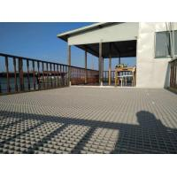 Sand Grey FRP Grating Used In Lake Platform