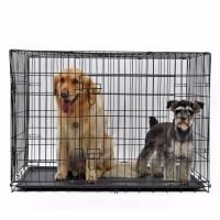 Buy cheap Pet Cage Pet Dog Cage Crate Double-Door from wholesalers