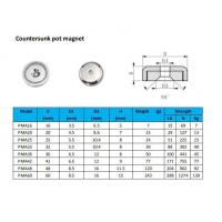 Buy cheap D25 Countersunk pot magnet from wholesalers