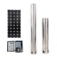 Buy cheap DC Power solar submersible Water pump with full stainless stell and MPPT solar controller from wholesalers