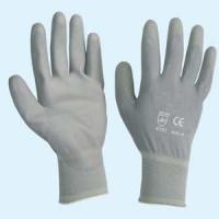 Buy cheap Grey PU Glove from wholesalers