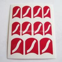Buy cheap Wholesale fashion curved line nail art design nail stencil product